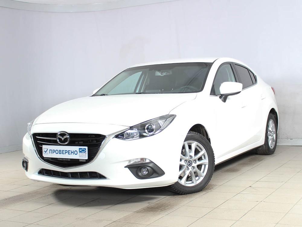 Mazda 3 с пробегом, белый , отличное состояние, 2014 года выпуска, цена 790 000 руб. в автосалоне РОЛЬФ Лахта Blue Fish (Санкт-Петербург, ул. Савушкина, д. 103)