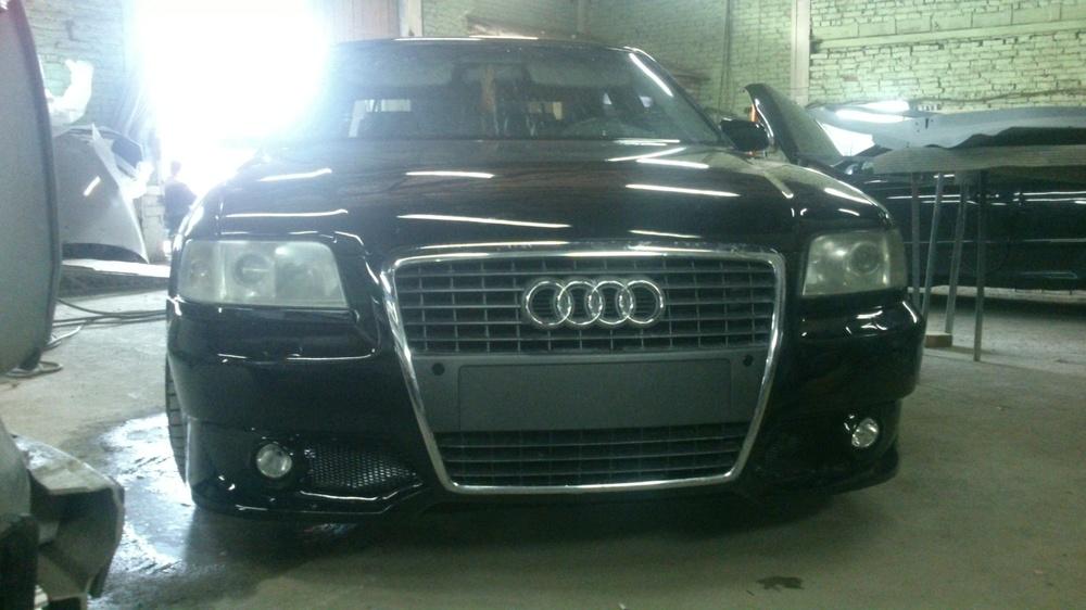 Подержанный Audi A8, хорошее состояние, черный , 2000 года выпуска, цена 450 000 руб. в Смоленской области
