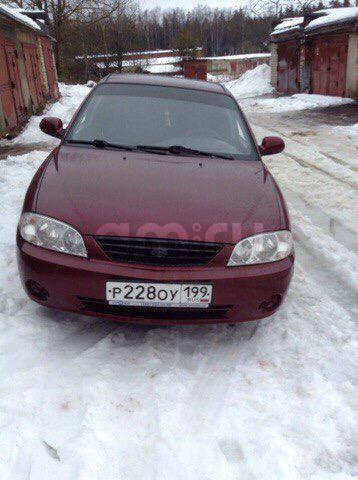 Подержанный Kia Spectra, хорошее состояние, пурпурный , 2007 года выпуска, цена 190 000 руб. в Смоленской области