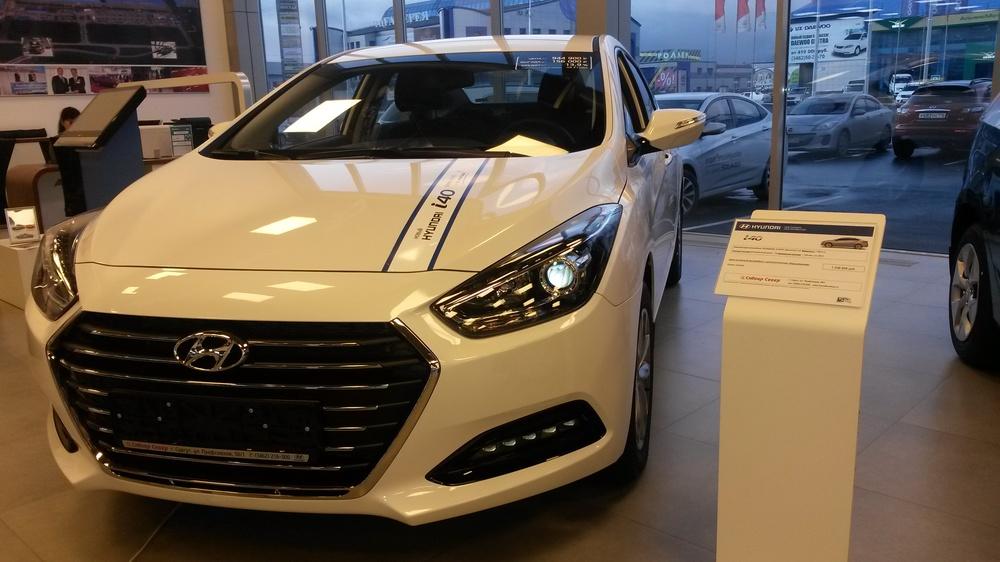 Подержанный Hyundai i40, отличное состояние, белый перламутр, 2015 года выпуска, цена 1 260 000 руб. в ао. Ханты-Мансийском Автономном округе - Югре