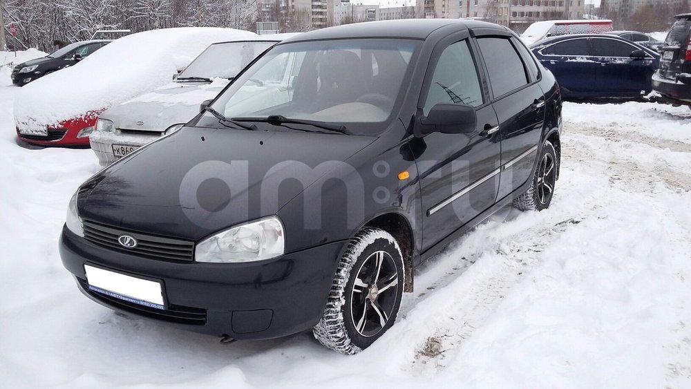 Подержанный ВАЗ (Lada) Kalina, хорошее состояние, черный , 2011 года выпуска, цена 199 000 руб. в Архангельске