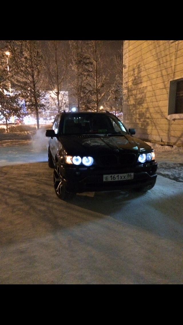 Подержанный BMW X5, среднее состояние, черный металлик, 2002 года выпуска, цена 535 000 руб. в ао. Ханты-Мансийском Автономном округе - Югре