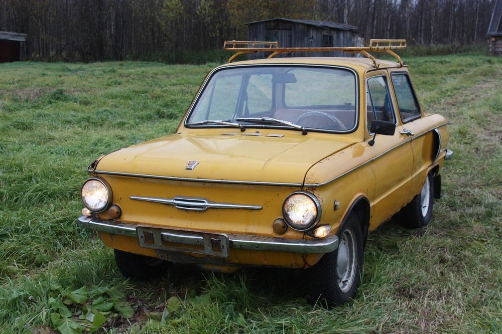 Подержанный ЗАЗ 968, плохое состояние, желтый , 1977 года выпуска, цена 16 000 руб. в Архангельске