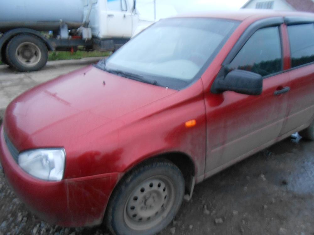 Подержанный ВАЗ (Lada) Kalina, хорошее состояние, бордовый , 2010 года выпуска, цена 170 000 руб. в республике Татарстане