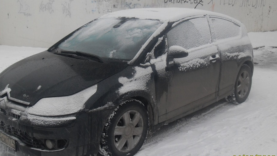 Подержанный Citroen C4, хорошее состояние, черный , 2006 года выпуска, цена 280 000 руб. в Челябинской области