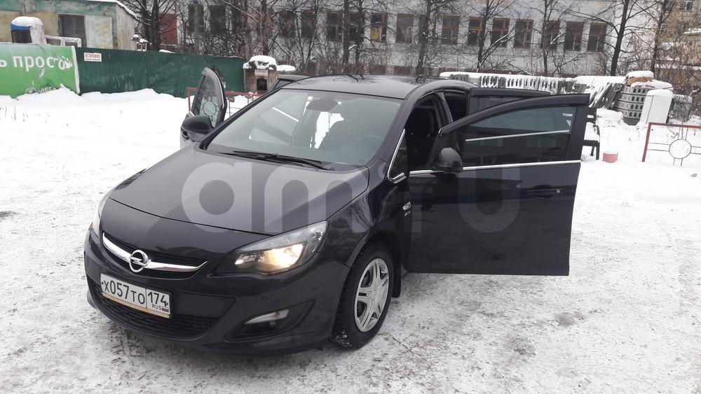 Подержанный Opel Astra, отличное состояние, черный , 2014 года выпуска, цена 705 000 руб. в Челябинской области