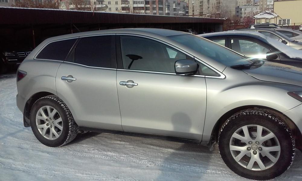 Подержанный Mazda CX-7, отличное состояние, серебряный металлик, 2009 года выпуска, цена 650 000 руб. в Челябинской области