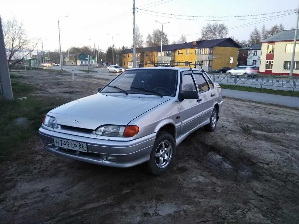 Подержанный ВАЗ (Lada) 2115, хорошее состояние, серебряный , 2008 года выпуска, цена 130 000 руб. в Тюмени