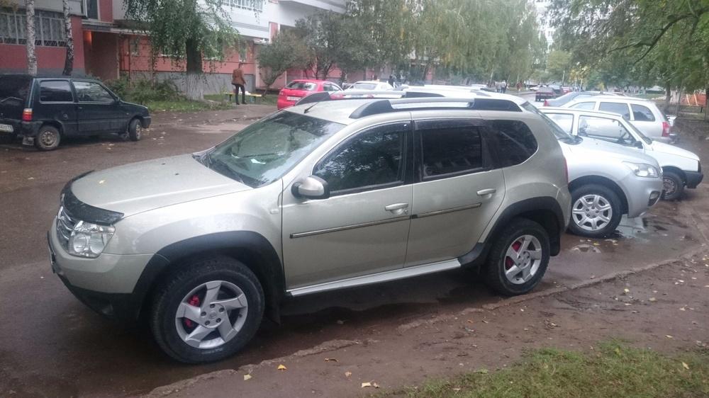 Подержанный Renault Duster, отличное состояние, бежевый перламутр, 2014 года выпуска, цена 780 000 руб. в республике Татарстане