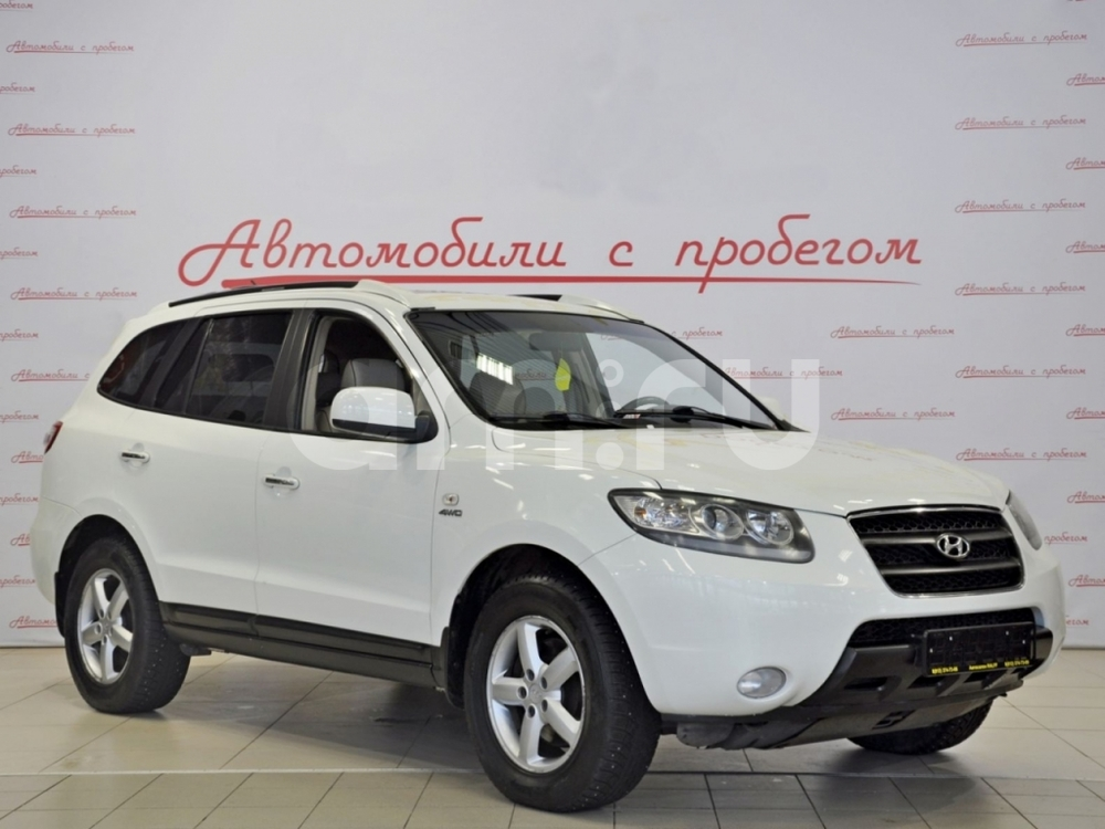 Hyundai Santa Fe с пробегом, белый , отличное состояние, 2007 года выпуска, цена 555 000 руб. в автосалоне NORTH-AUTO (Санкт-Петербург, пр-кт Маршала Блюхера, д. 54, корп. 1)