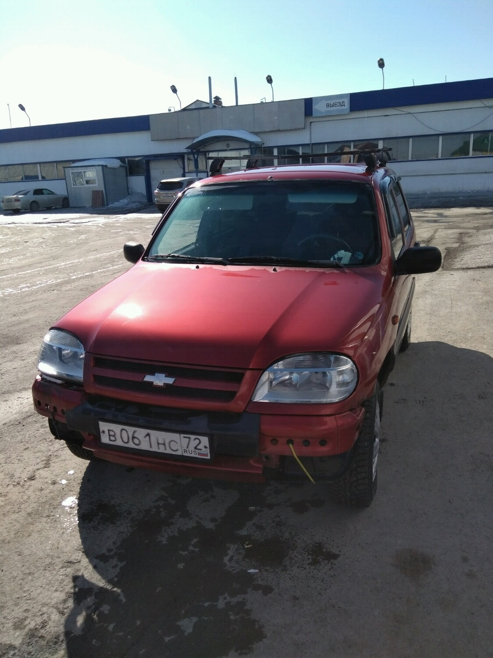 Подержанный Chevrolet Niva, хорошее состояние, вишневый , 2006 года выпуска, цена 165 000 руб. в Тюмени
