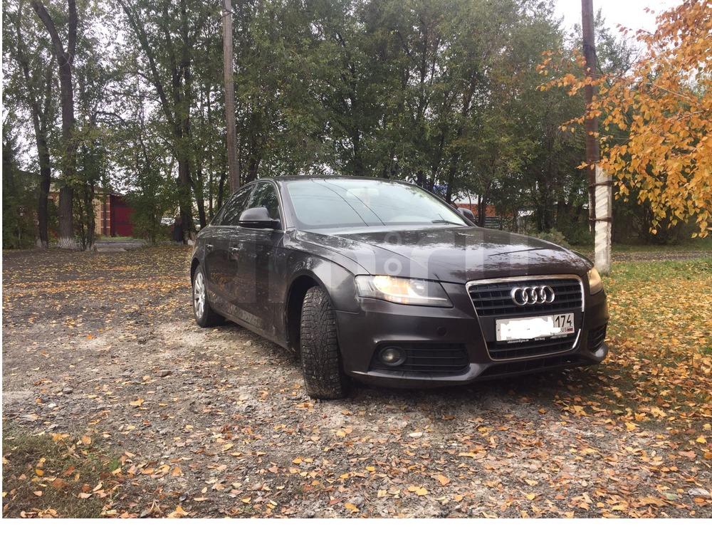 Подержанный Audi A4, хорошее состояние, черный , 2008 года выпуска, цена 620 000 руб. в Челябинской области