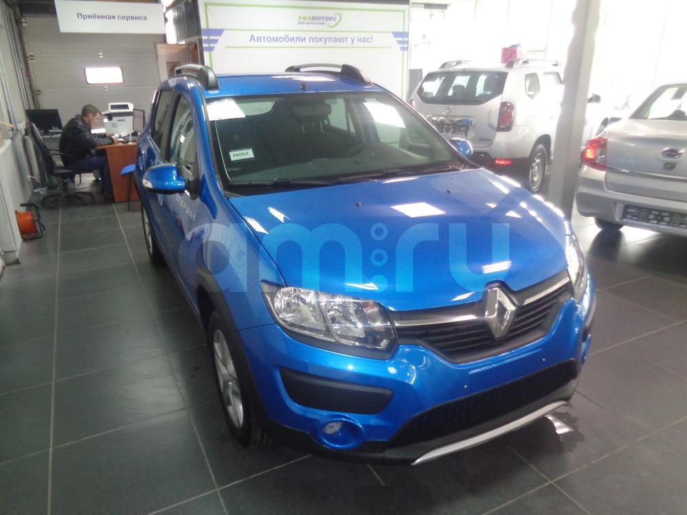 Renault Sandero с пробегом, синий металлик, отличное состояние, 2016 года выпуска, цена 553 000 руб. в автосалоне УФА МОТОРС (Уфа, ул. Сарапульская, д. 35)