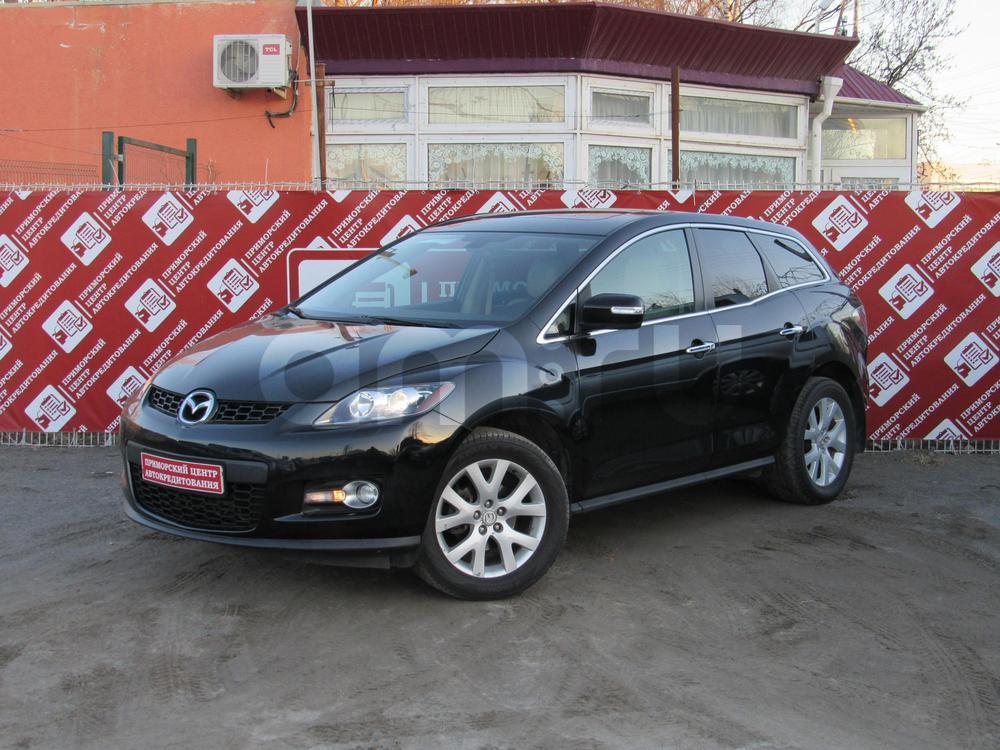 Mazda CX-7 с пробегом, черный , отличное состояние, 2008 года выпуска, цена 520 000 руб. в автосалоне Приморский Центр Автокредитования (Санкт-Петербург, дорога Торфяная, д. 17)