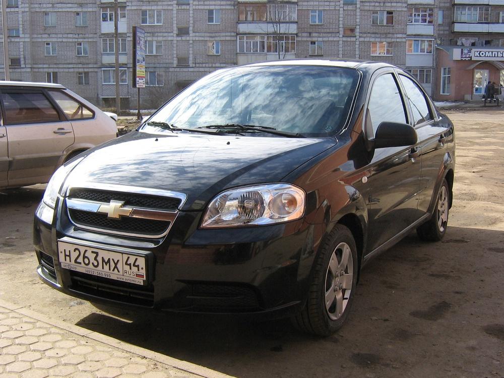Подержанный Chevrolet Aveo, хорошее состояние, черный металлик, 2008 года выпуска, цена 280 000 руб. в Костромской области
