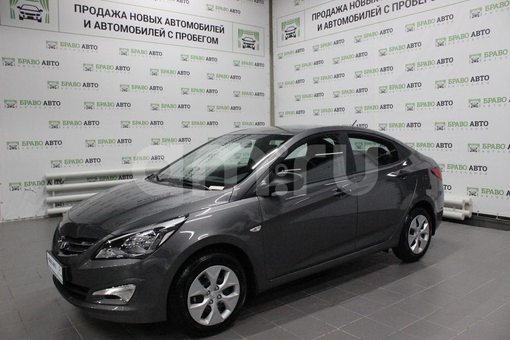 Hyundai Solaris с пробегом, серый металлик, отличное состояние, 2017 года выпуска, цена 524 000 руб. в автосалоне Браво Авто (Уфа, проезд Базисный, д. 2Д)