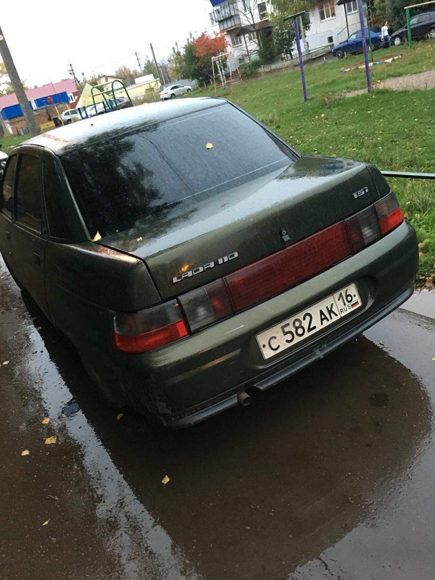 Подержанный ВАЗ (Lada) 2110, хорошее состояние, зеленый , 2003 года выпуска, цена 80 000 руб. в республике Татарстане
