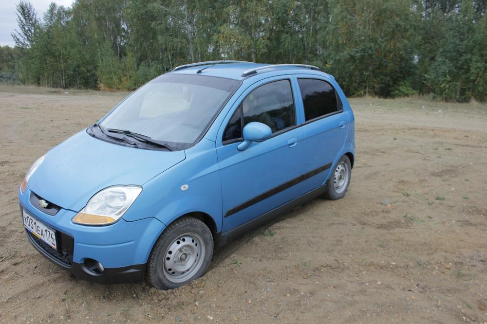 Подержанный Chevrolet Spark, хорошее состояние, голубой металлик, 2008 года выпуска, цена 245 000 руб. в Челябинской области