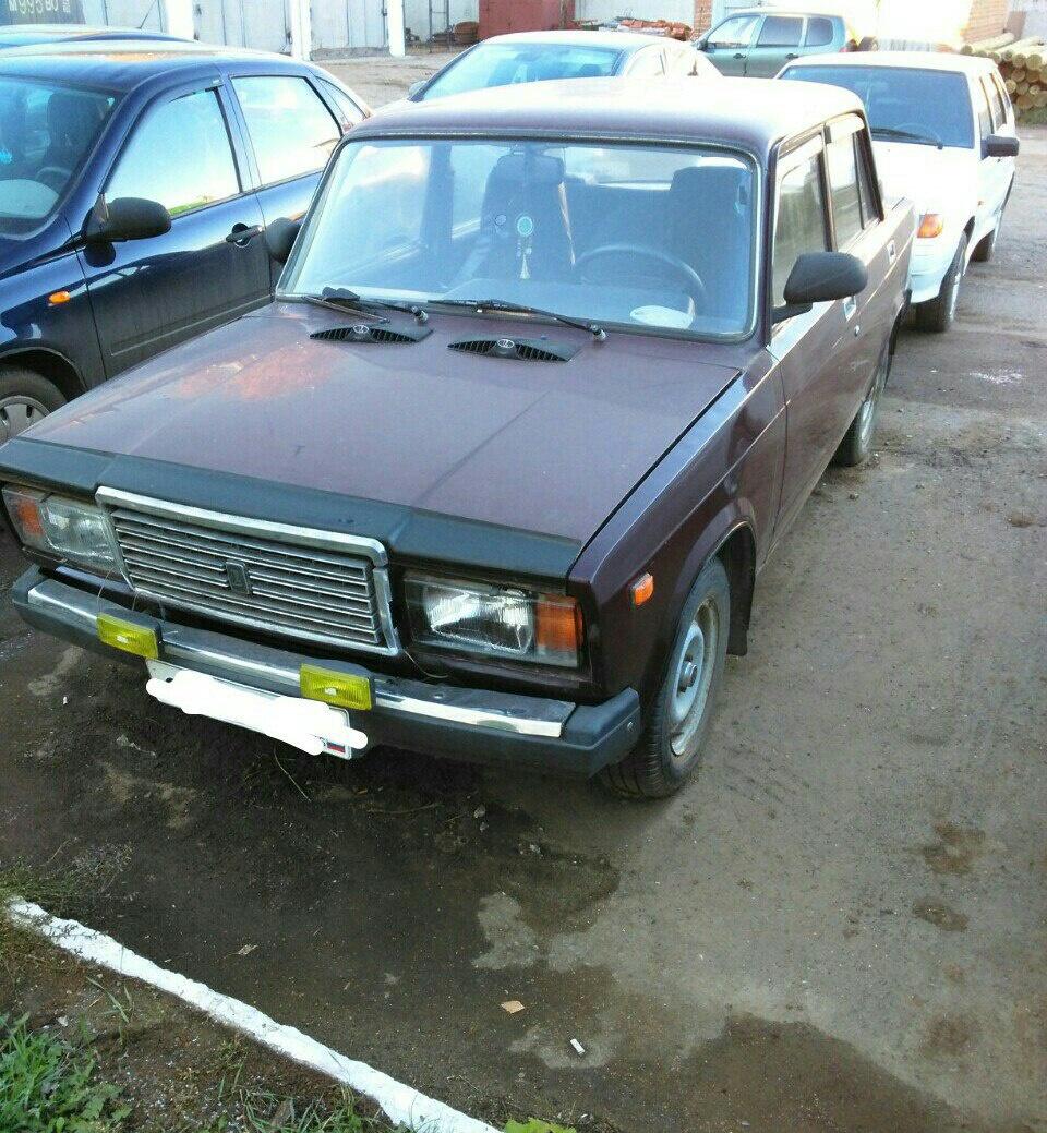 Подержанный ВАЗ (Lada) 2107, среднее состояние, вишневый , 2006 года выпуска, цена 50 000 руб. в республике Татарстане