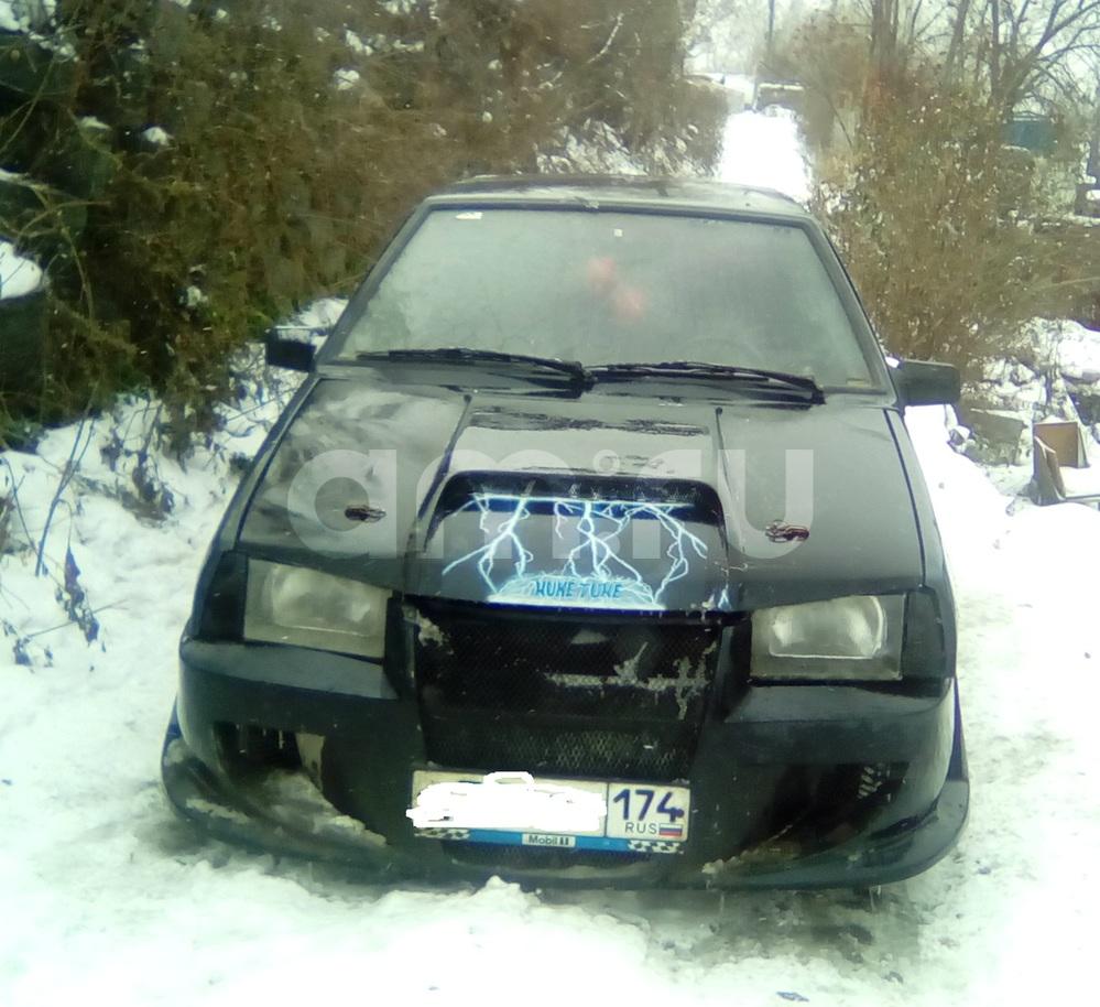 Подержанный ВАЗ (Lada) 2109, среднее состояние, синий , 1996 года выпуска, цена 45 000 руб. в Челябинской области