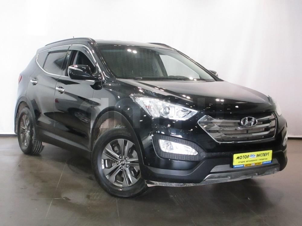 Hyundai Santa Fe с пробегом, черный , отличное состояние, 2013 года выпуска, цена 1 355 000 руб. в автосалоне  ()