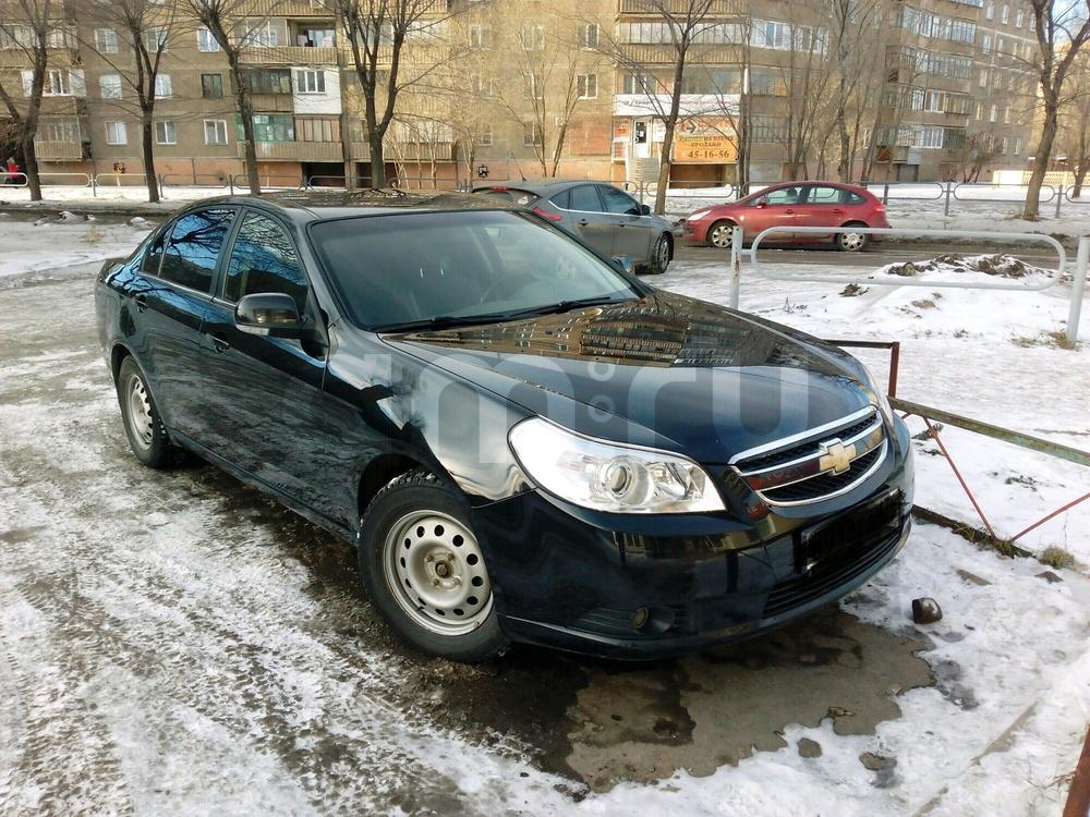 Подержанный Chevrolet Epica, отличное состояние, черный , 2012 года выпуска, цена 485 000 руб. в Челябинской области