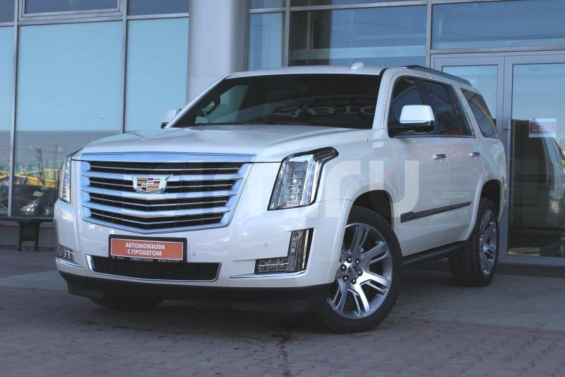 Cadillac Escalade с пробегом, белый , отличное состояние, 2015 года выпуска, цена 4 150 000 руб. в автосалоне  ()