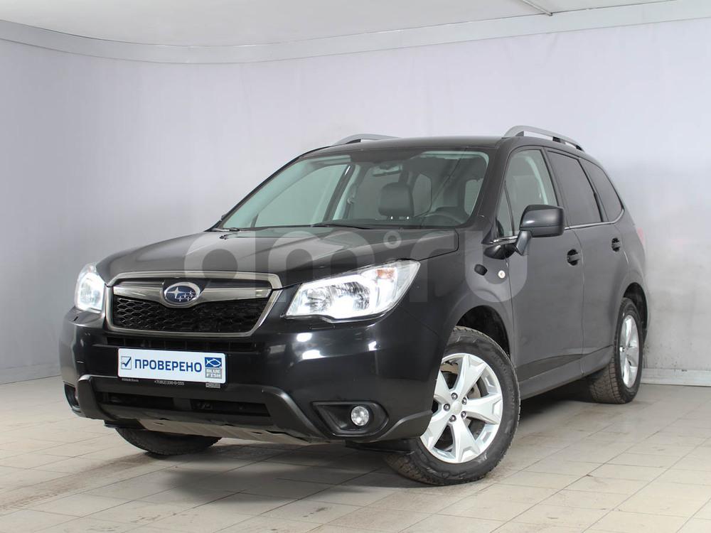 Subaru Forester с пробегом, черный , отличное состояние, 2015 года выпуска, цена 1 360 000 руб. в автосалоне РОЛЬФ Лахта Blue Fish (Санкт-Петербург, ул. Савушкина, д. 103)
