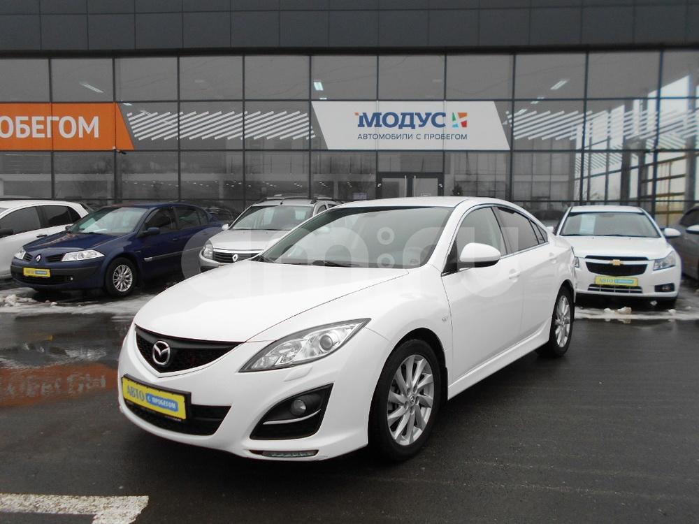 Mazda 6 с пробегом, белый , отличное состояние, 2010 года выпуска, цена 640 000 руб. в автосалоне МОДУС ПЛЮС Ростов-на-Дону (Ростов-на-Дону, ул.Вавилова, д. 74 А/1)