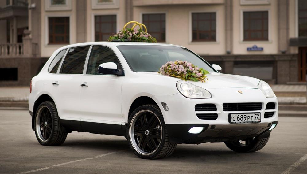 Подержанный Porsche Cayenne, отличное состояние, белый матовый, 2003 года выпуска, цена 750 000 руб. в Тюмени