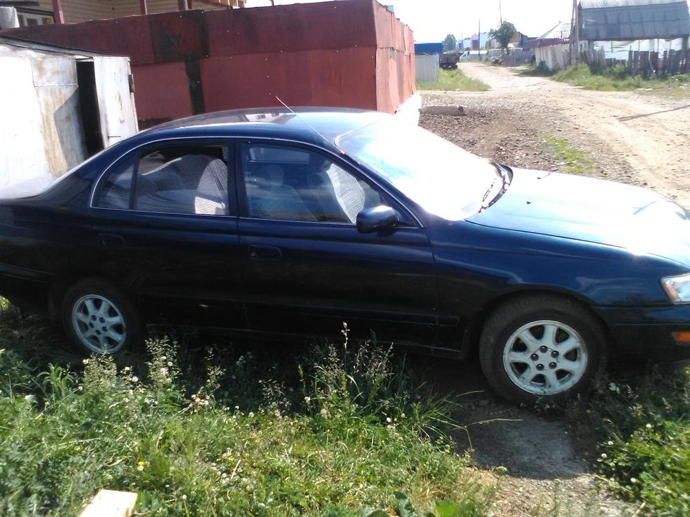 Подержанный Toyota Corona, хорошее состояние, синий , 1993 года выпуска, цена 90 000 руб. в Челябинской области
