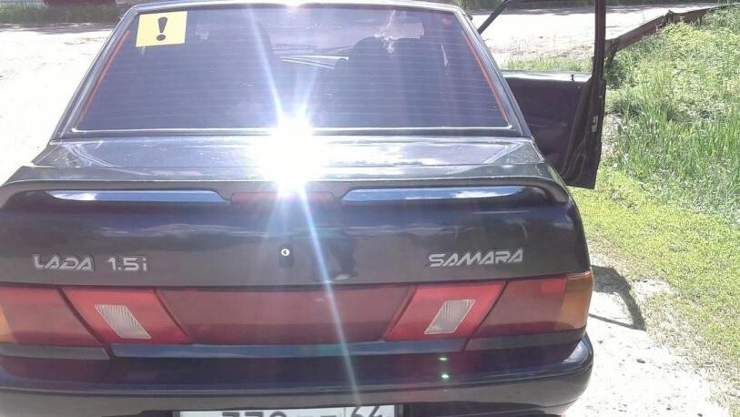 Подержанный ВАЗ (Lada) 2115, хорошее состояние, черный , 2005 года выпуска, цена 90 000 руб. в Саратове