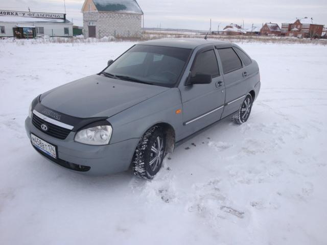 Подержанный ВАЗ (Lada) Priora, отличное состояние, серый , 2008 года выпуска, цена 149 000 руб. в Челябинской области