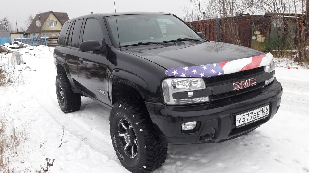 Подержанный Chevrolet TrailBlazer, хорошее состояние, черный , 2004 года выпуска, цена 650 000 руб. в ао. Ханты-Мансийском Автономном округе - Югре