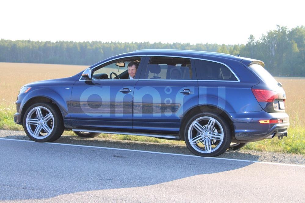 Подержанный Audi Q7, отличное состояние, синий , 2012 года выпуска, цена 2 650 000 руб. в Челябинской области