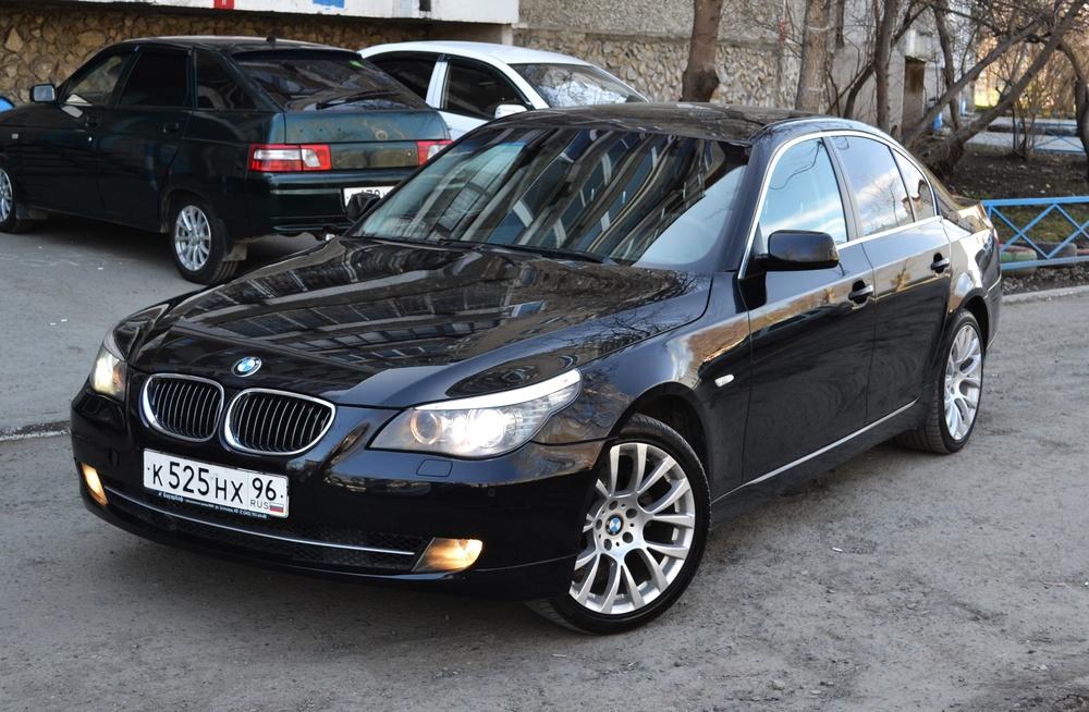 Подержанный BMW 5 серия, отличное состояние, черный , 2008 года выпуска, цена 659 000 руб. в Екатеринбурге
