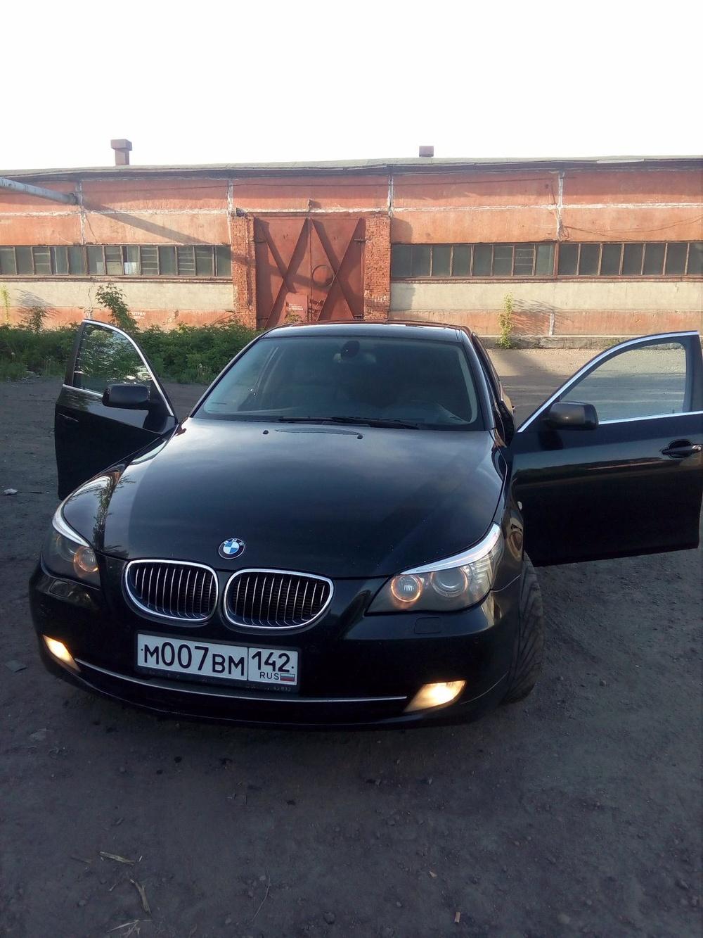 Подержанный BMW 5 серия, отличное состояние, черный , 2007 года выпуска, цена 660 000 руб. в Кемеровской области