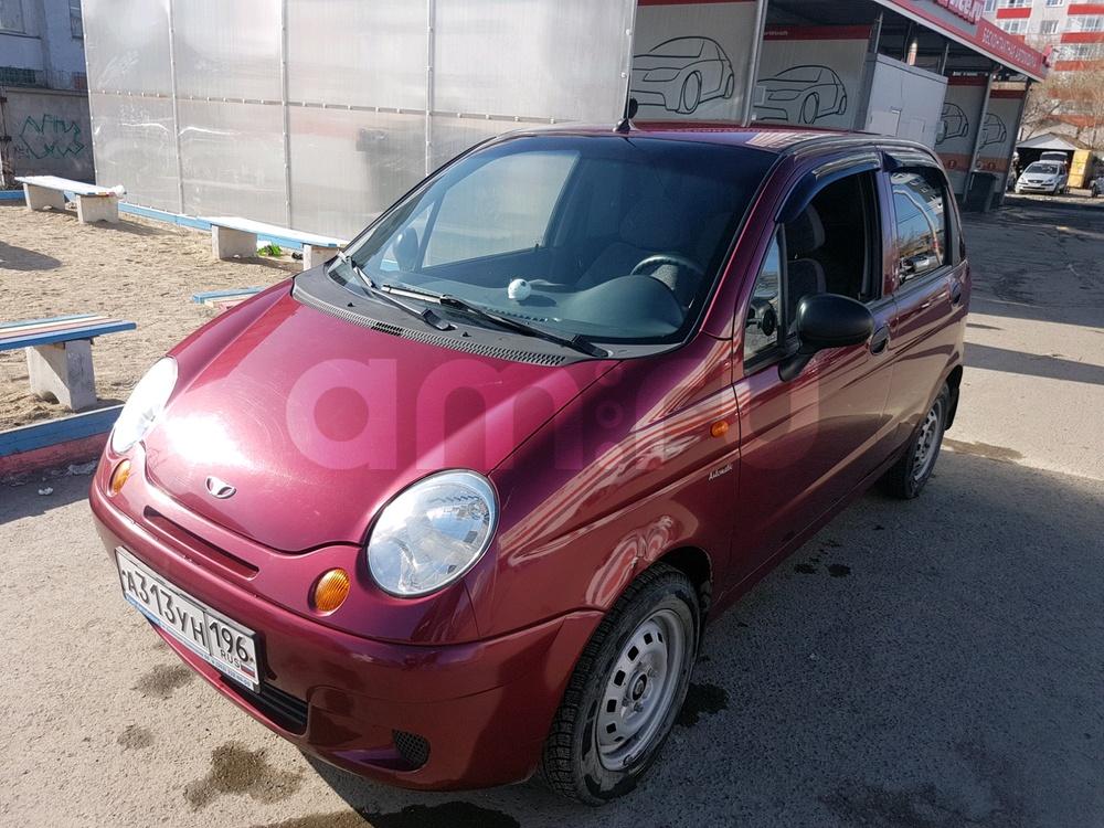 Подержанный Daewoo Matiz, хорошее состояние, вишневый , 2007 года выпуска, цена 150 000 руб. в Екатеринбурге