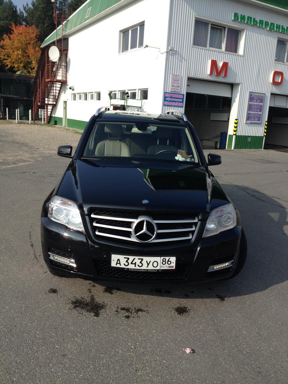 Подержанный Mercedes-Benz GLK-Класс, отличное состояние, черный , 2010 года выпуска, цена 1 300 000 руб. в ао. Ханты-Мансийском Автономном округе - Югре