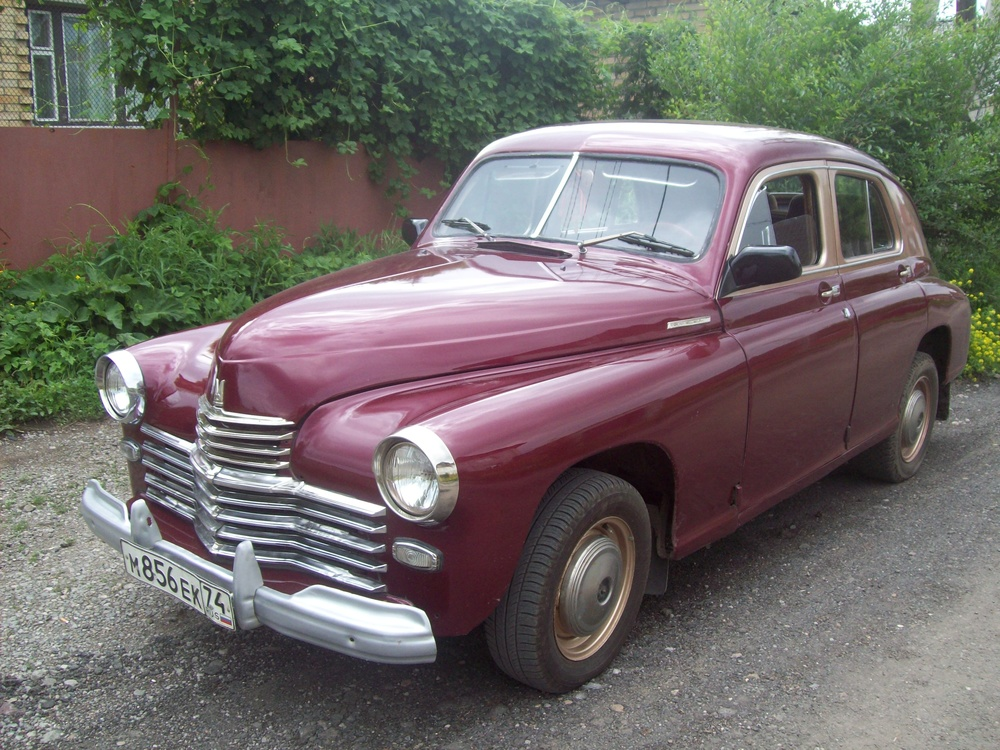Подержанный ГАЗ М-20 Победа, отличное состояние, бордовый металлик, 1955 года выпуска, цена 400 000 руб. в Челябинской области