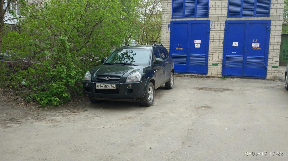 Подержанный Hyundai Tucson, хорошее состояние, зеленый , 2006 года выпуска, цена 470 000 руб. в Нижнем Новгороде