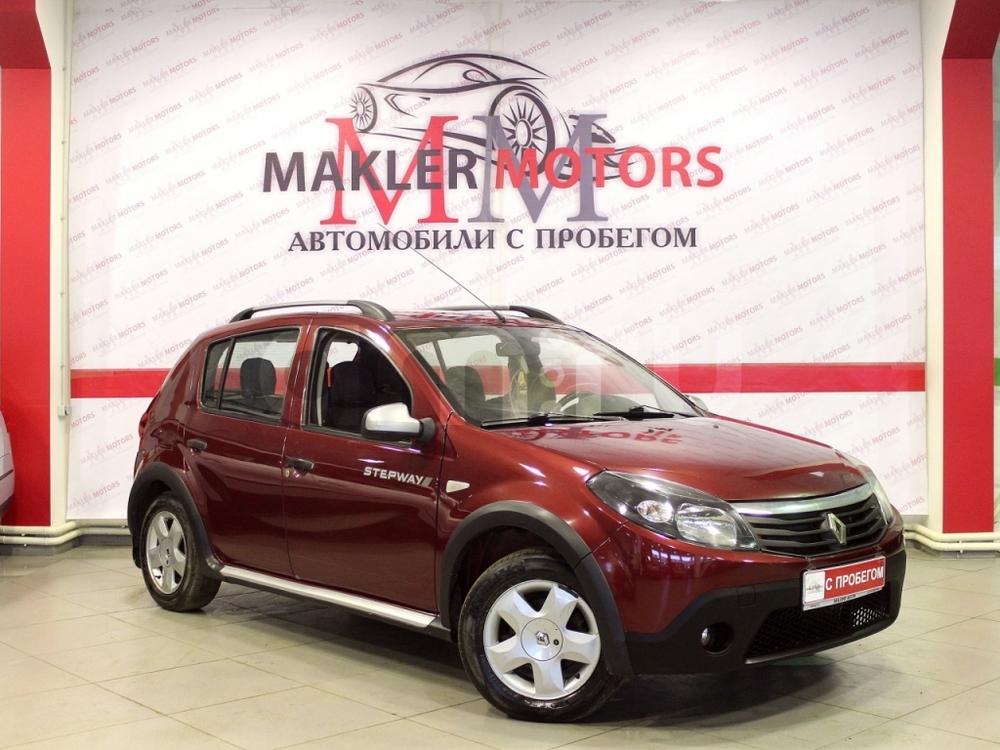 Renault Sandero с пробегом, красный , отличное состояние, 2012 года выпуска, цена 349 000 руб. в автосалоне MaklerMotors (Москва, ш. Каширское, д. 41)