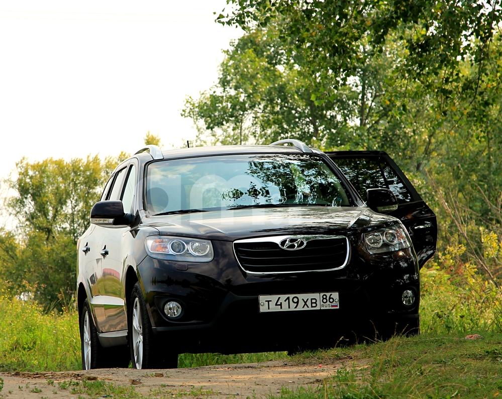 Подержанный Hyundai Santa Fe, отличное состояние, бордовый металлик, 2011 года выпуска, цена 1 050 000 руб. в ао. Ханты-Мансийском Автономном округе - Югре