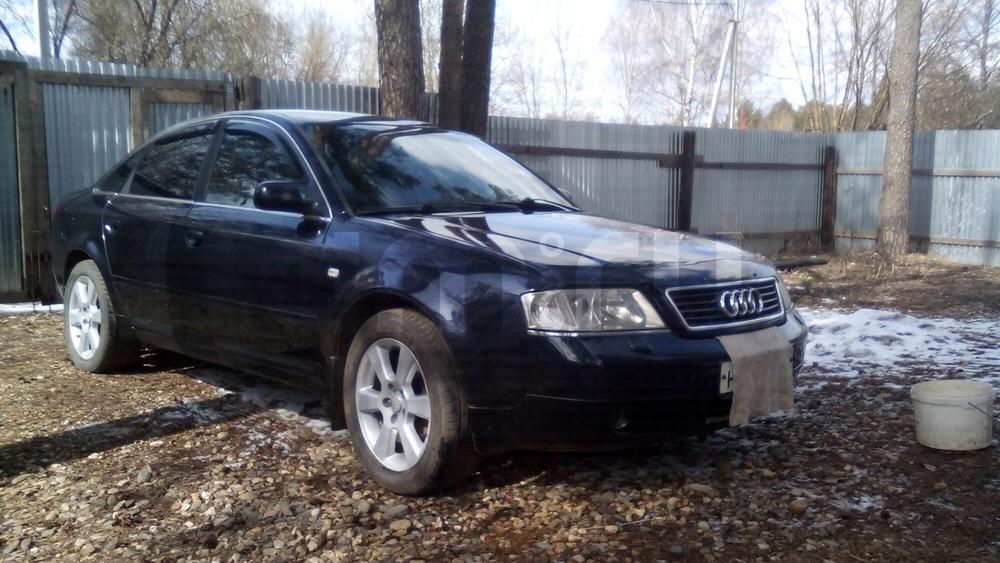 Подержанный Audi A6, хорошее состояние, синий металлик, 1997 года выпуска, цена 280 000 руб. в Костромской области