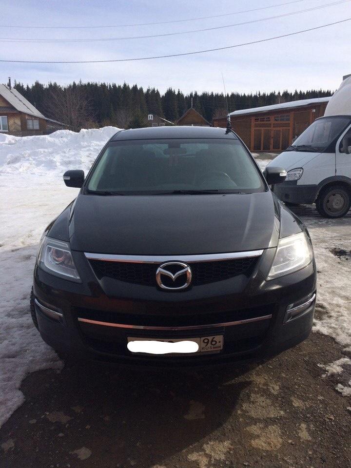 Подержанный Mazda CX-9, хорошее состояние, черный , 2008 года выпуска, цена 800 000 руб. в Екатеринбурге