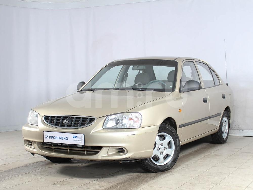 Hyundai Accent с пробегом, бежевый металлик, отличное состояние, 2003 года выпуска, цена 139 000 руб. в автосалоне РОЛЬФ Лахта Blue Fish (Санкт-Петербург, ул. Савушкина, д. 103)