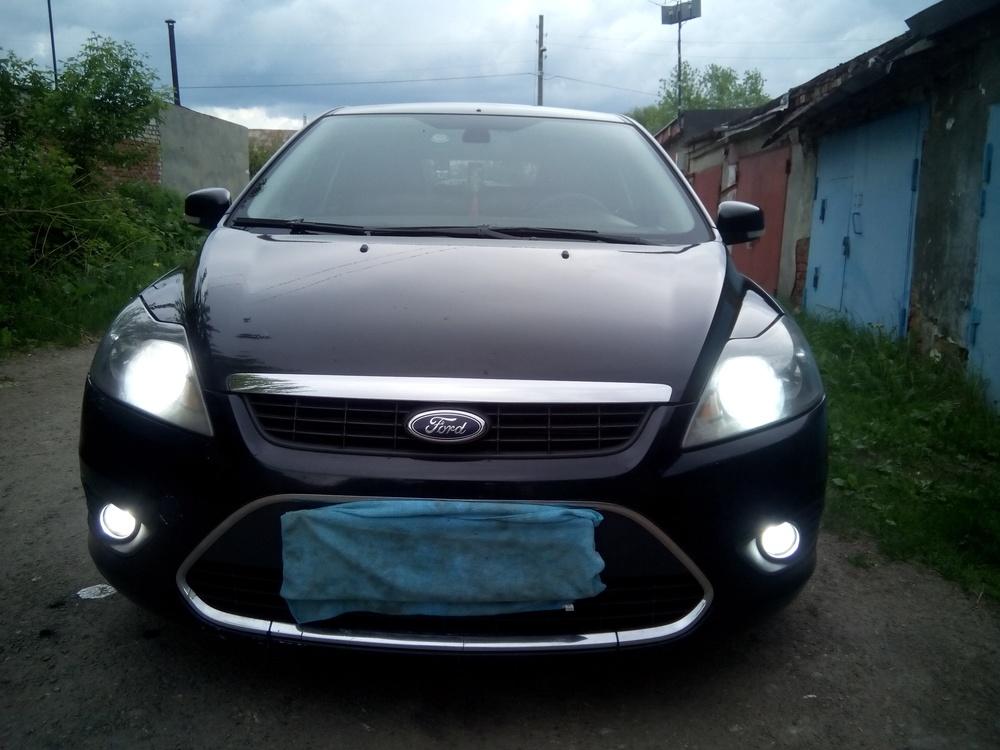 Подержанный Ford Focus, хорошее состояние, черный металлик, 2008 года выпуска, цена 340 000 руб. в Пензенской области