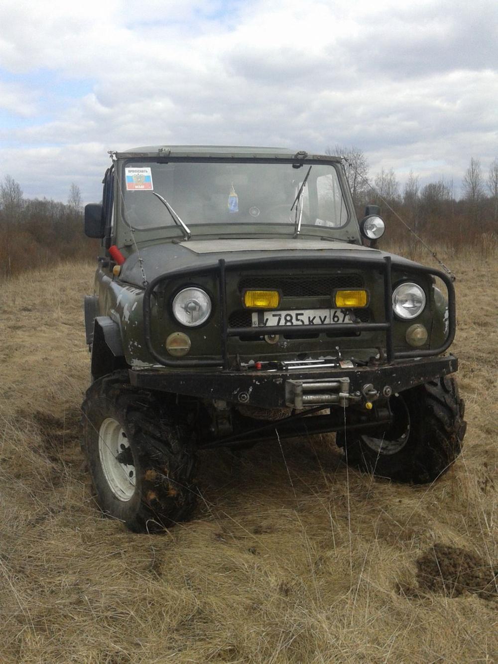 Подержанный УАЗ 469, хорошее состояние, зеленый , 1983 года выпуска, цена 195 000 руб. в Смоленской области