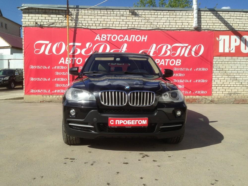 BMW X5 с пробегом, черный , отличное состояние, 2007 года выпуска, цена 890 000 руб. в автосалоне Победа-Авто (Саратов, ул. Чапаева, д. 173)