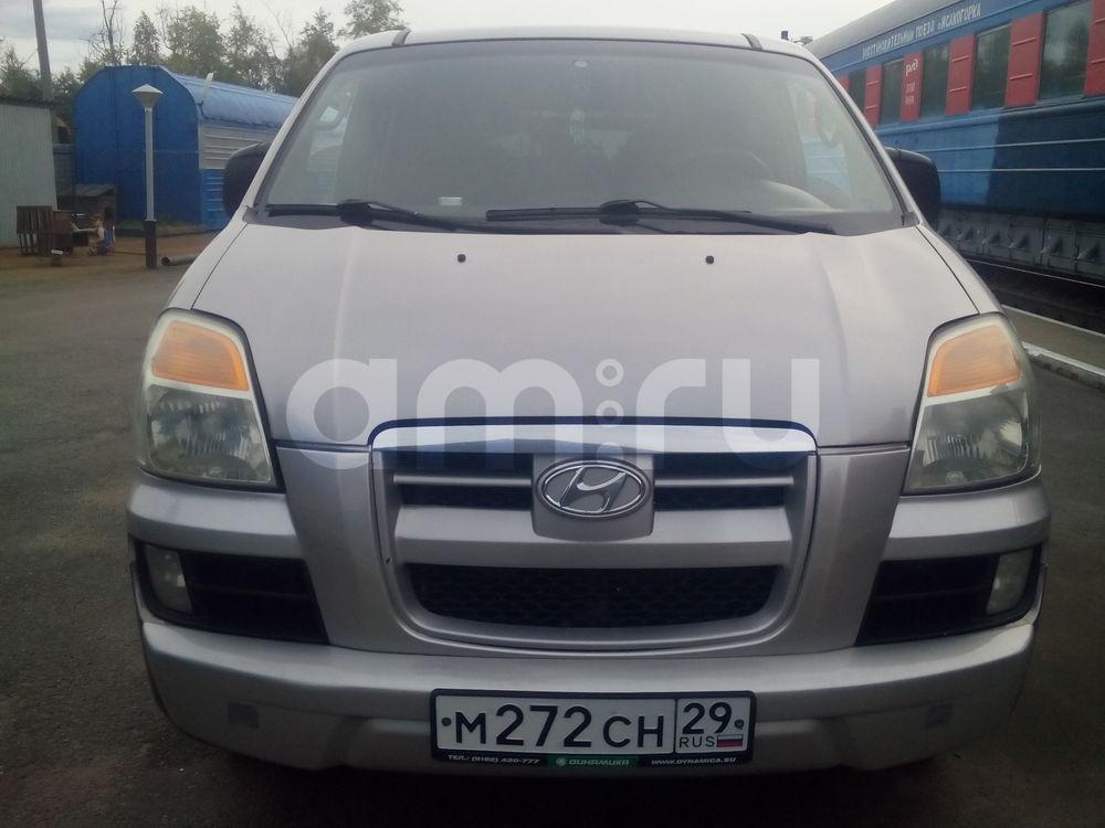Подержанный Hyundai H-1, хорошее состояние, бежевый матовый, 2004 года выпуска, цена 500 000 руб. в Архангельске